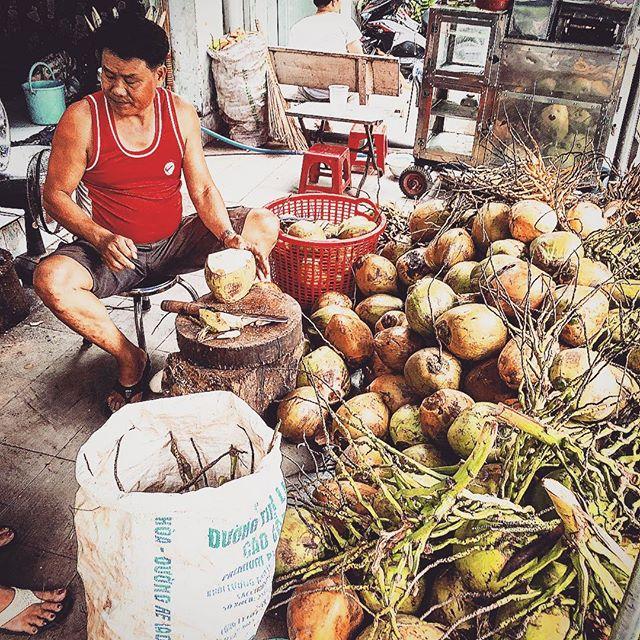 ココナッツ飲み放題🥥#ベトナム