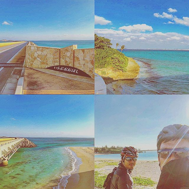 束の間の滞在。16、17年ぶりの伊良部島。宮古島を繋ぐ橋が出来ていたよ。#トライアスロン